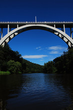 Arched Bridge Over The River