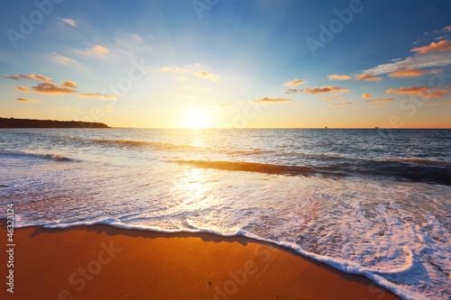 Fotobehang Zee zonsondergang sunset and sea