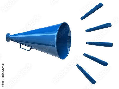 Photo Blue megaphone icon