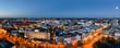 canvas print picture - Panorama Hannover zur blauen Stunde