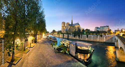 Poster Paris Notre Dame de Paris, France