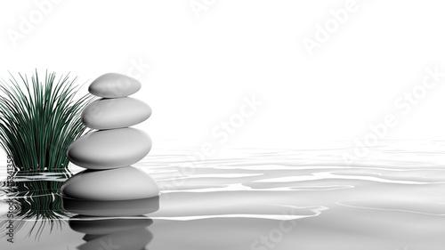 Photo  Zen stones in the water