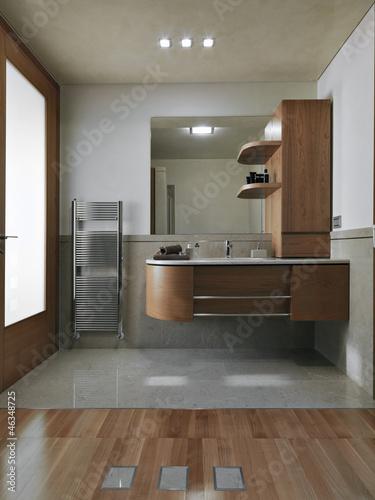 Bagno Moderno Con Parquet.Bagno Moderno Con Parquet Buy This Stock Photo And Explore Similar