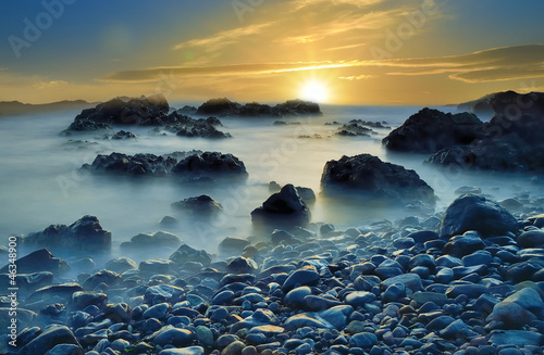 Foto-Schiebegardine Komplettsystem - seascape (von Tilio & Paolo)