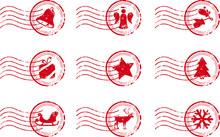 Holiday Stamp Set Grunge Motif