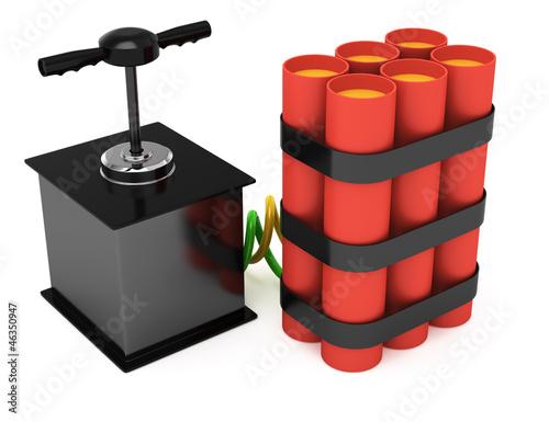 Fotografia  dynamite with detonator