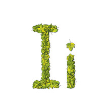 Eco Font Letter I