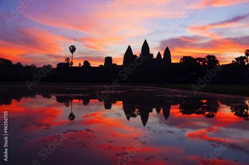 Foto  Angkor Wat sunrise