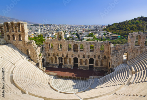Spoed Foto op Canvas Athene The Odeon theatre at Athens, Greece