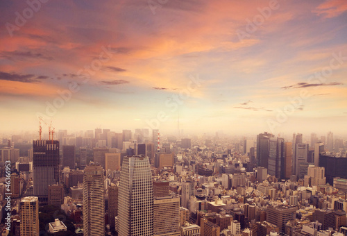 Fotobehang Tokyo Tokyo Skyline