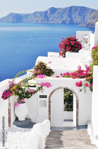 Fototapeta Oia village at Santorini island, Greece obraz