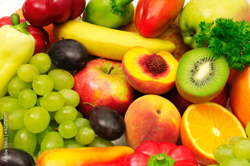Papiers peints Fruit fruits and vegetables