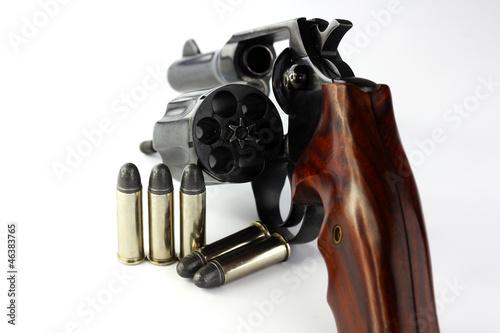 Fotografie, Obraz  Close up of handgun revolver