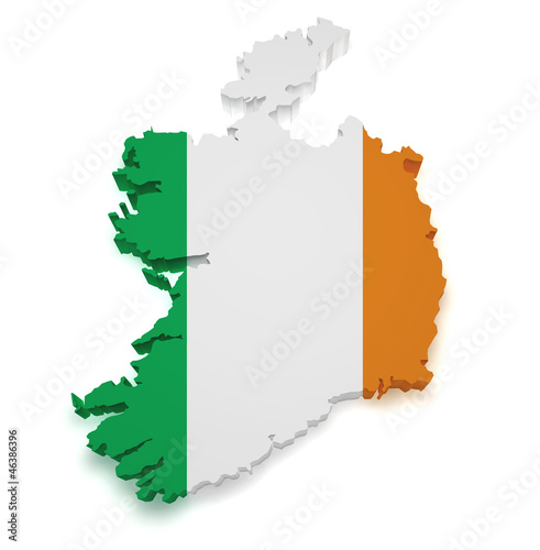 Photo  Ireland Map 3d Shape