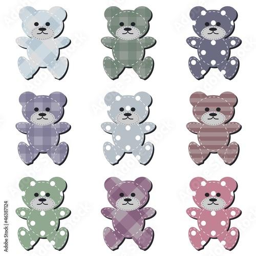 nice scrapbook teddy bears on white #46387124