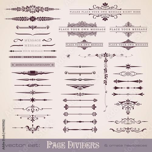 Fotografía  page dividers and ornate headpieces