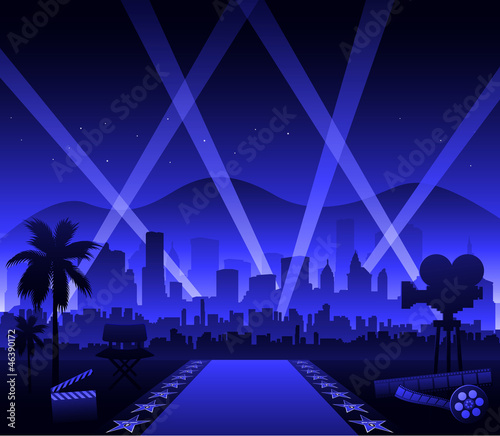 Hollywood movie red carpet Wallpaper Mural