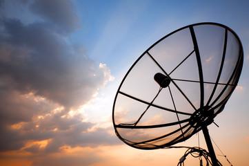 telecommunication satellite dish
