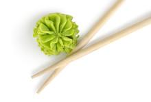 Wooden Chopsticks And Wasabi I...