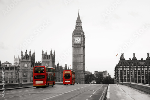Foto auf Gartenposter London roten bus Westminster Palace