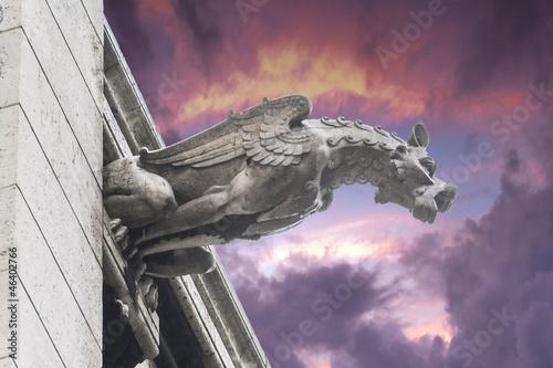 Fototapeta Gargoyles of Notre Dame cathedral in Paris, France