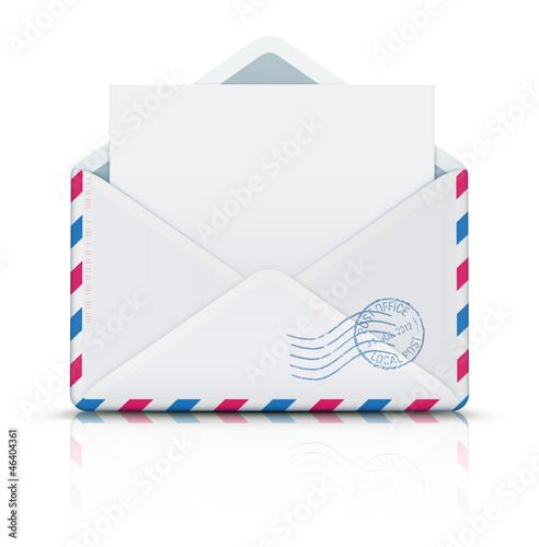 Fotografía  Airmail post envelope