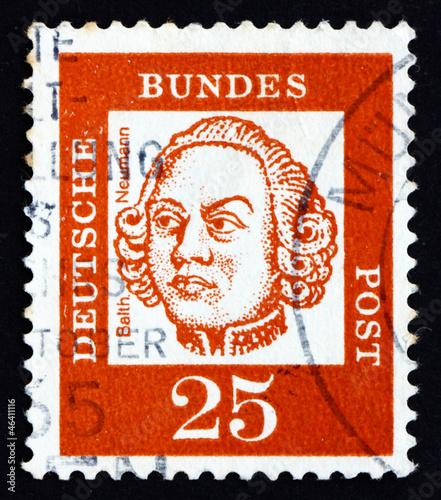 Postage stamp Germany 1961 Johann Balthasar Neumann, German Baro Wallpaper Mural