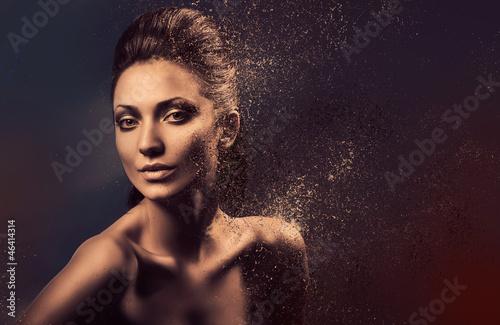 dissolving sensual nude woman