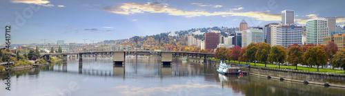Fototapeta Portland Oregon Downtown Skyline and Bridges obraz