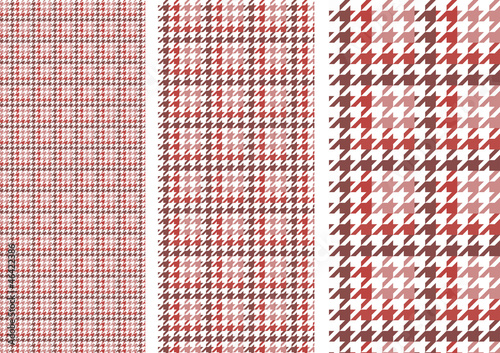 Photo  houndstooth(red)