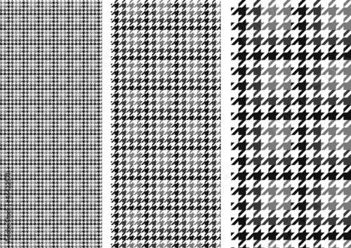 Photo  houndstooth(gray)