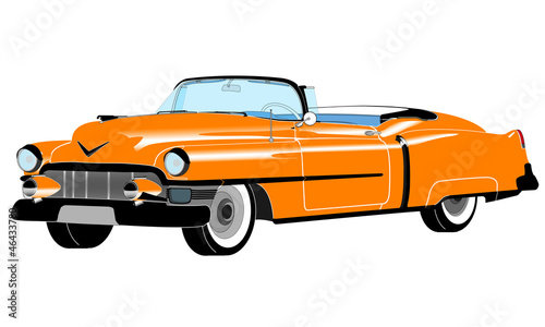 Leinwand Poster Yellow Cadillac