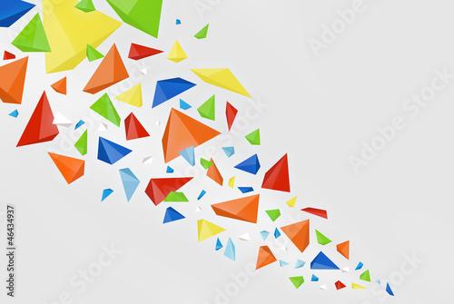 Foto op Plexiglas Geometrische dieren Abstract colorfull background
