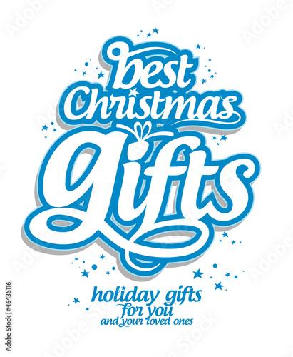 Fototapeta Best Christmas gifts design template. obraz na płótnie