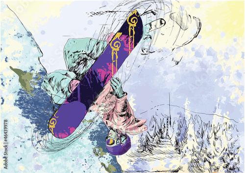 snowboarder-rysunek-odreczny