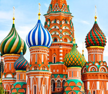 Cathedral Of Vasily The Blessed In Moscow Russia