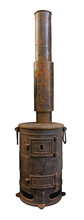 Old Stove With Chimney. Clipping Path Included.