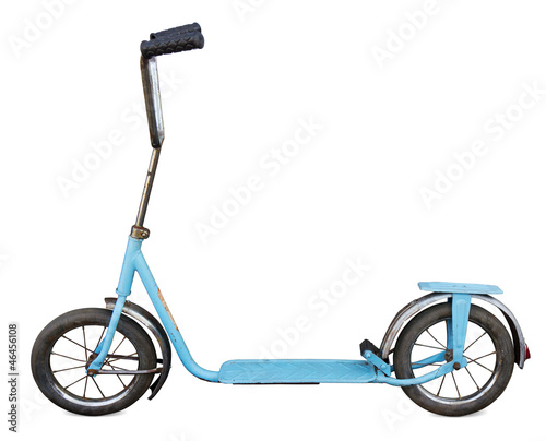Scooter Old scooter isolated. Clipping path included.
