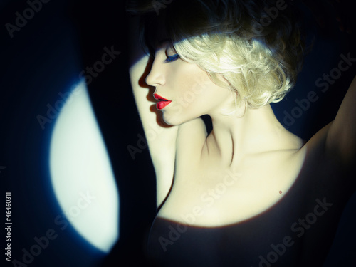 Photo  Lady in the spotlight
