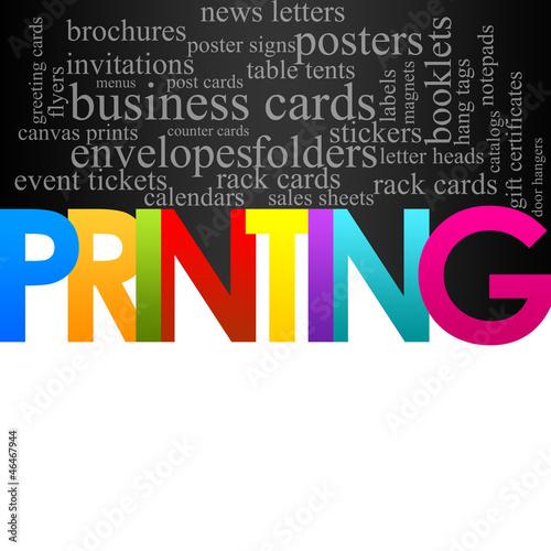 Fotografie, Obraz  Printing Background