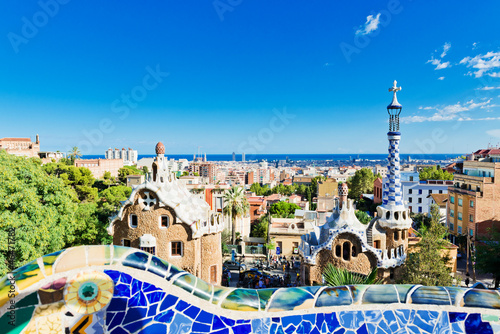 Canvas Print Park Guell in Barcelona, Spain.