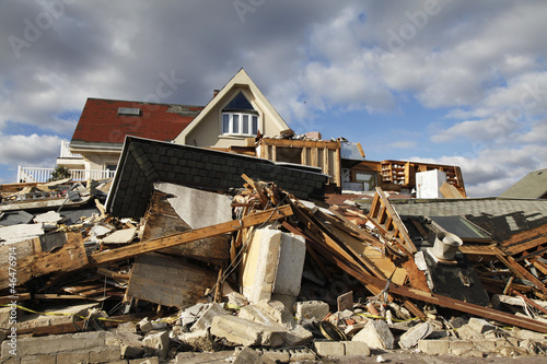 Hurricane Sandy destruction Canvas