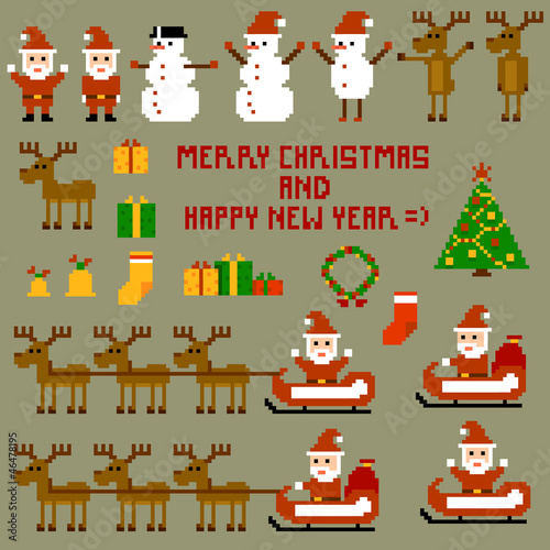 Photo sur Toile Pixel Pixel Christmas Holidays