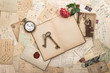 old letters, photographs and post cards