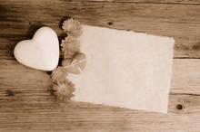 Büttenpapier Altes Holz Hintergrund