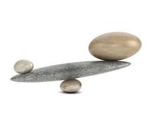 3d Stones Balance On See-saw