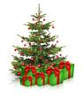 Geschenke und Weihnachtsbaum