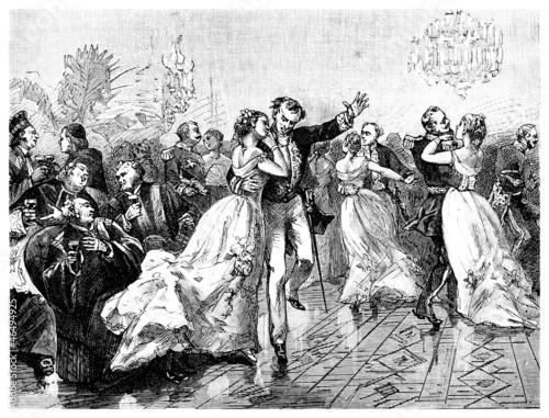 Fotografía High Society 19th century : Ball