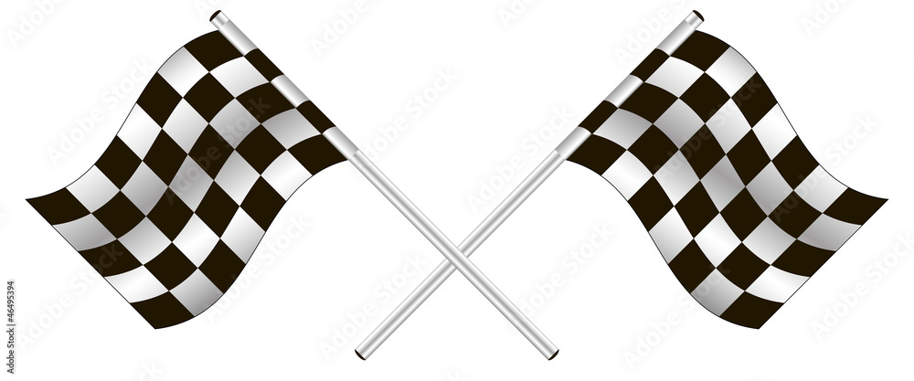 Fototapeta checkered flag. vector