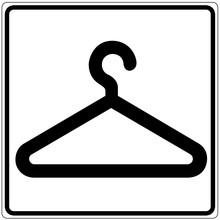 Schild Weiß - Garderobe